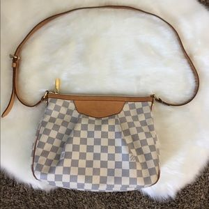 Authentic Louis Vuitton Siracusa PM Azur Bag Purse